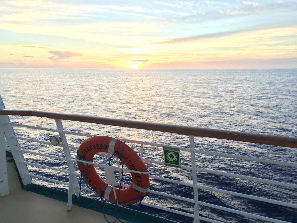 Sunsets at sea are beautiful